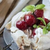 Strawberry Balsamic Pavlovas