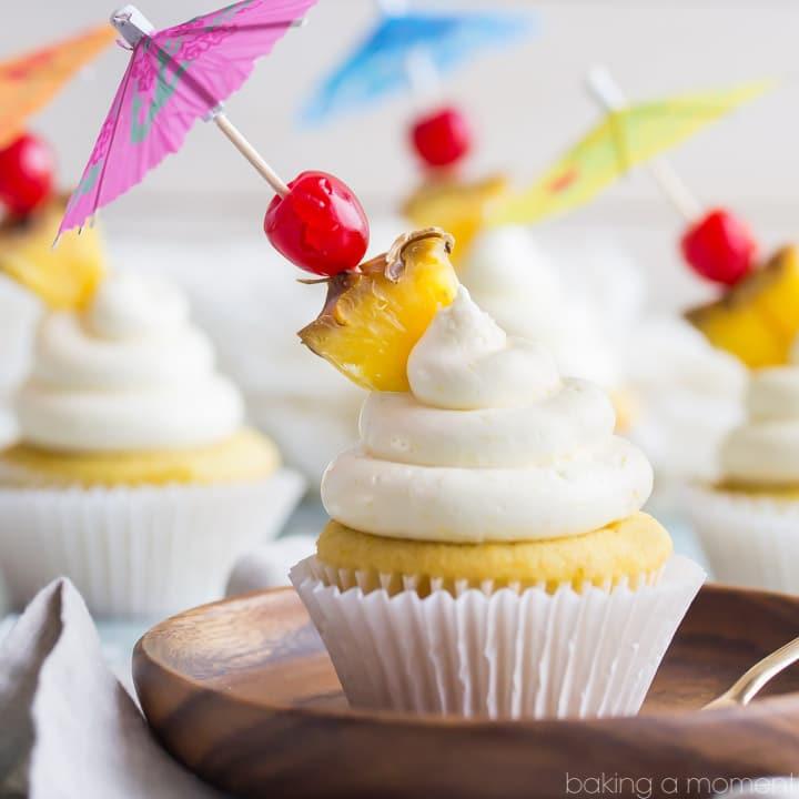 Tropical Pina Colada Cupcakes