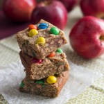 Apple Peanut Butter M&M Blondies