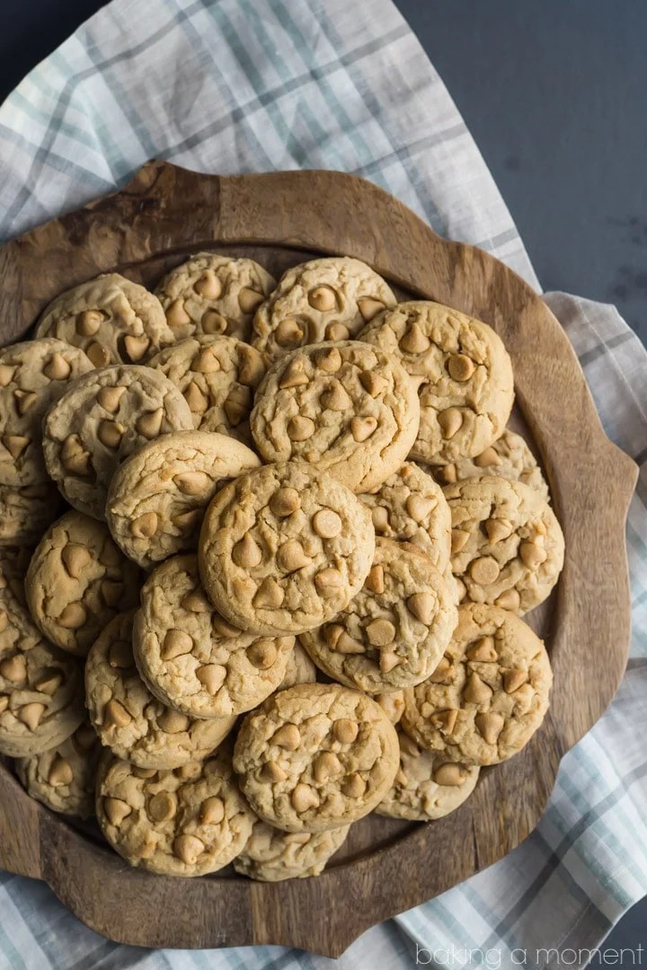 Soft Double Peanut Butter Chip Cookie Recipe - basically I can never make these peanut butter cookies again because they are TOO DANGEROUS! I seriously could not stop eating them, they are so soft, comforting, and peanut butter-y!