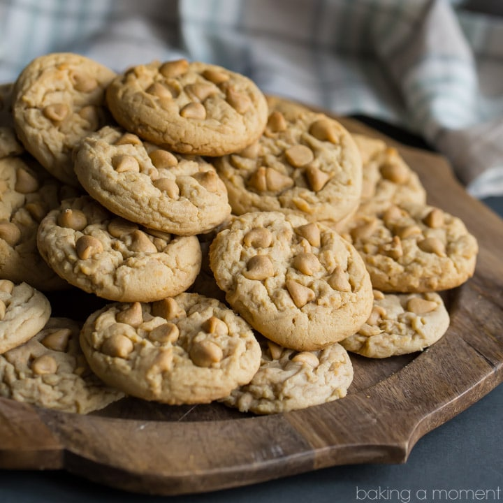 Soft Double Peanut Butter Chip Cookie Recipe- basically I can never make these peanut butter cookies again because they are TOO DANGEROUS! I seriously could not stop eating them, they are so soft, comforting, and peanut butter-y!