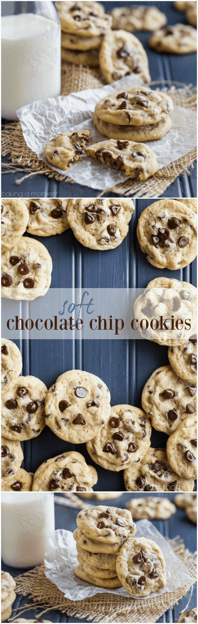 Soft Chocolate Chip Cookies - Baking A Moment