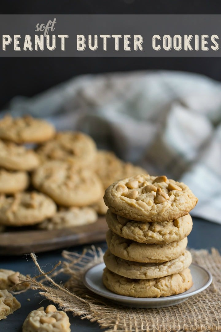 Soft Double Peanut Butter Cookie Recipe- basically I can never make these peanut butter cookies again because they are TOO DANGEROUS! I seriously could not stop eating them, they are so soft, comforting, and peanut butter-y!