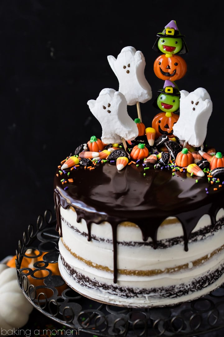 Pumpkin Chocolate Halloween Cake Baking A Moment