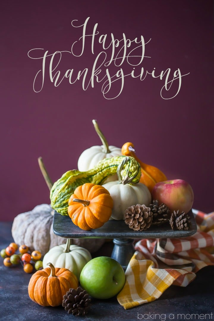 Happy Thanksgiving, from Baking a Moment