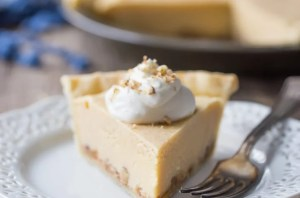 Gooey Butter Pie: Buttery brown sugar custard, salted caramel, and crunchy pecans, cradled in the flakiest ever pie crust! food desserts pie