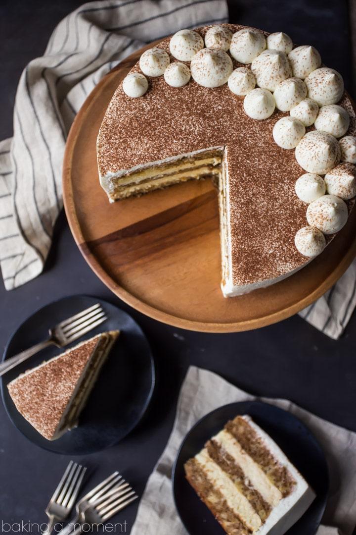 Tiramisu Cake just like the traditional Italian dessert in cake form