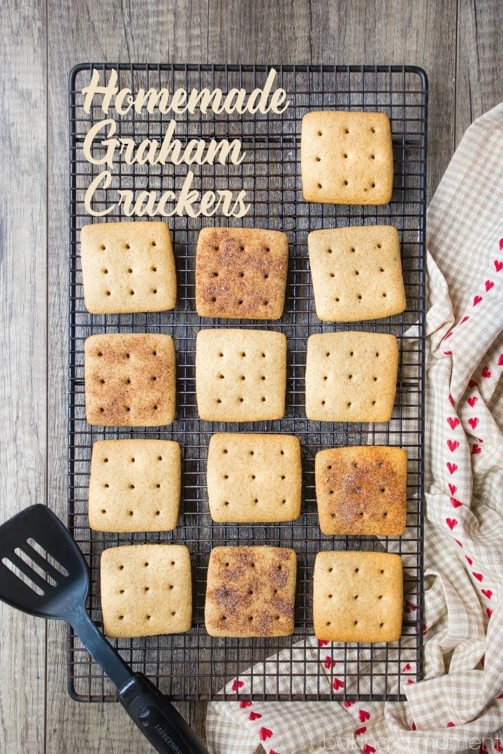 Homemade Graham Crackers: These were easy enough to make and the flavor blows the boxed kind away!  food desserts cookies