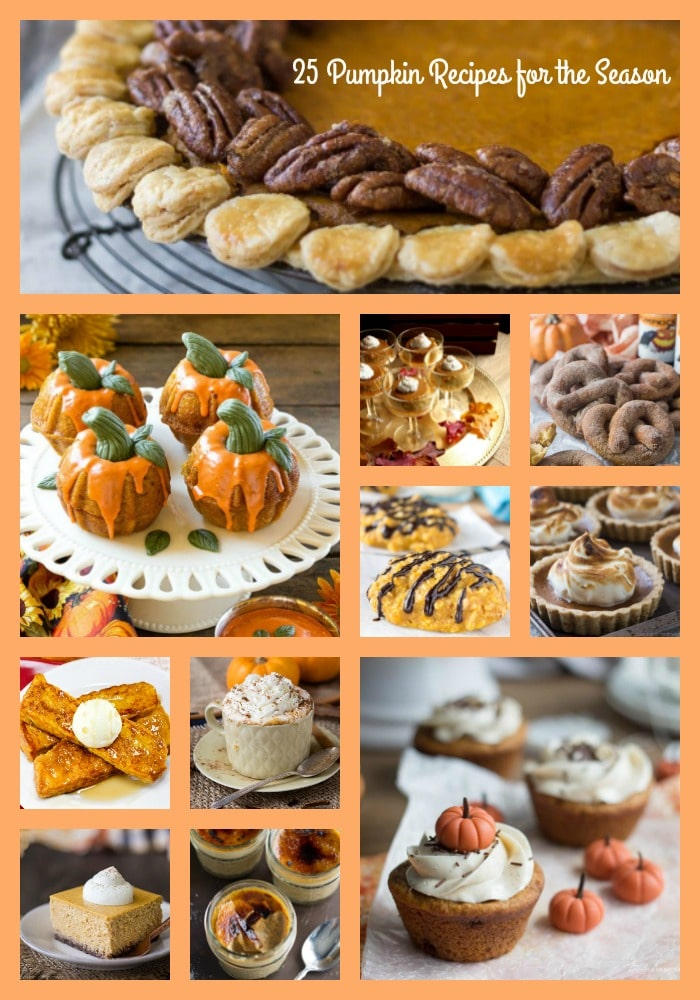 Here are 25 pumpkin recipes to enjoy for Thanksgiving or just because. I love the smell of pumpkin and spices as it fills the house and gives me that warm feeling inside!
