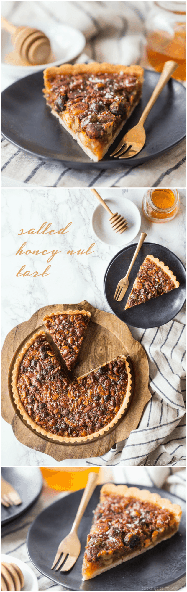 Honey Nut Tart: The sweet, nutty smell of this gooey tart filled my house as it was baking. It was like a warm hug! #honey #nut #tart #fall #dessert