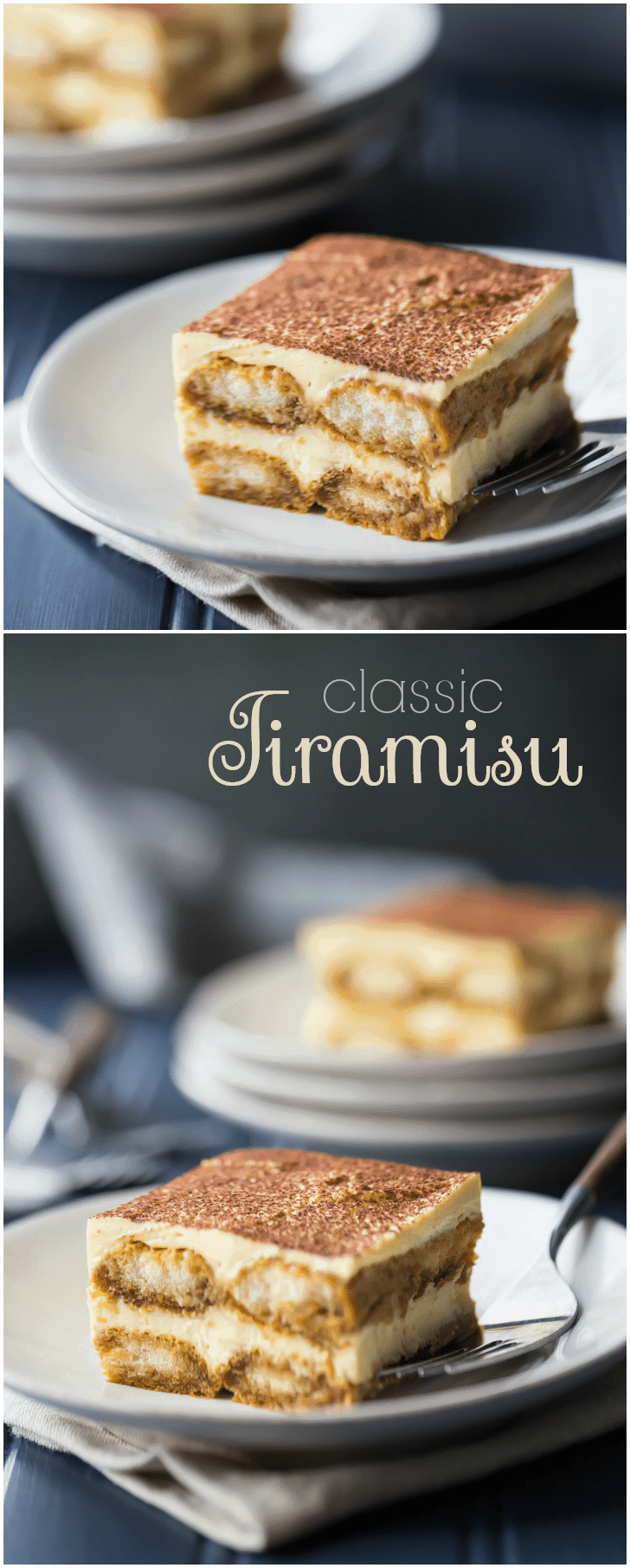 This is my FAVORITE tiramisu recipe!  So airy, light, and rich, with the perfect balance of flavors. I make it all the time and everyone always loves it!  #tiramisu #recipe #easy #authentic #classic #mousse #best #italian #desserts #original #mascarpone