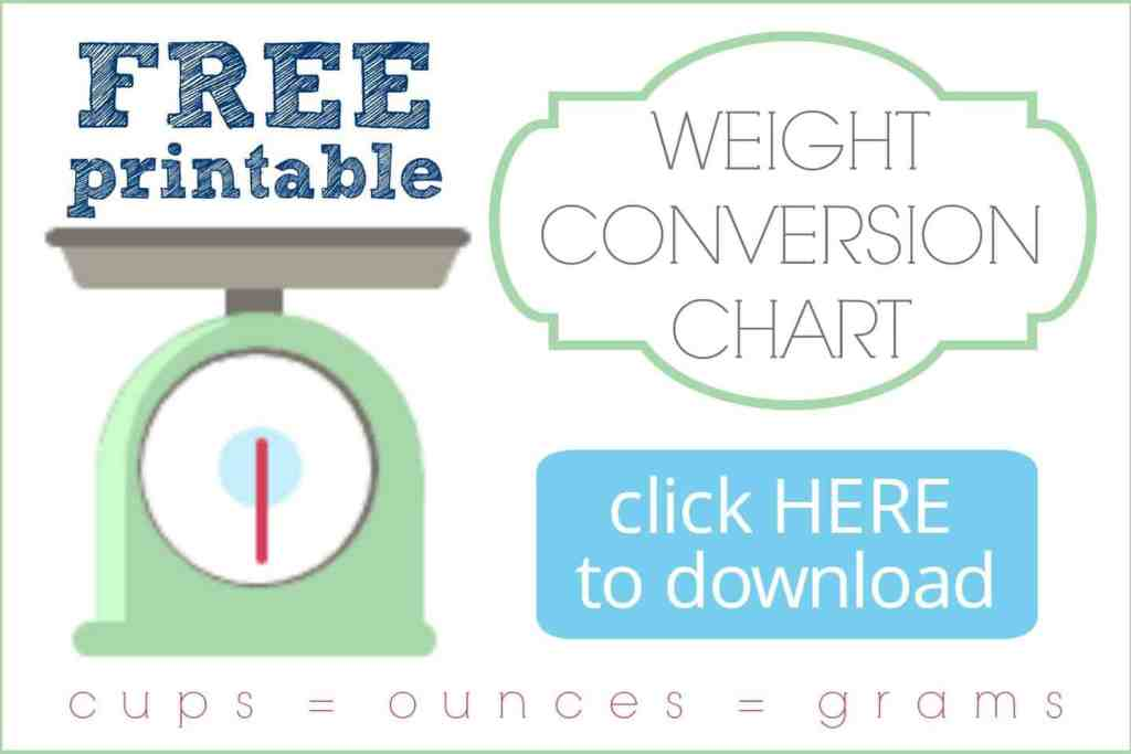 Free Printable Weight Conversion Chart