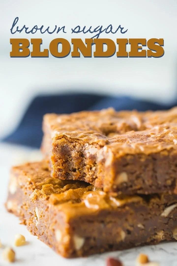 Classic Blondies Recipe | YellowBlissRoad.com  |Chewy Blondie Recipe