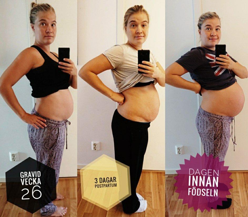 gravid en vecka efter mens