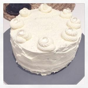 Blue Velvet Buttercreme-Torte