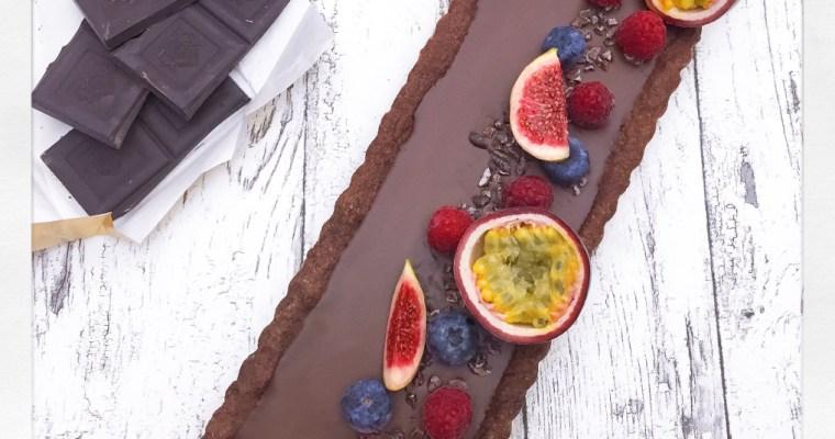 Vegane Zartbitter-Kokos-Tarte