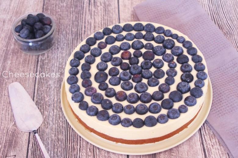 No Bake Cheesecake mit Heidelbeeren