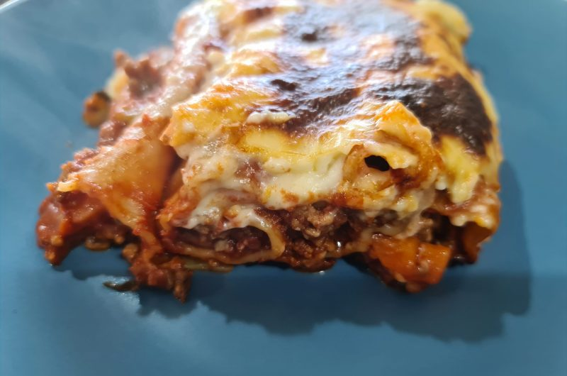 Beef Cannelloni with silver beet and white sauce