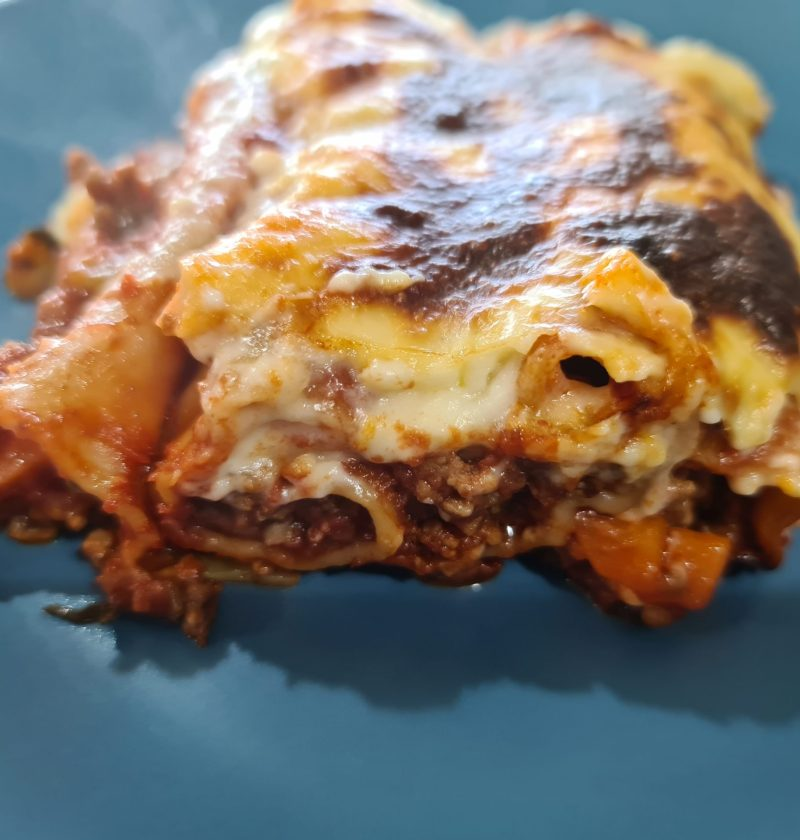 cannelloni with silverbeet and white sauce