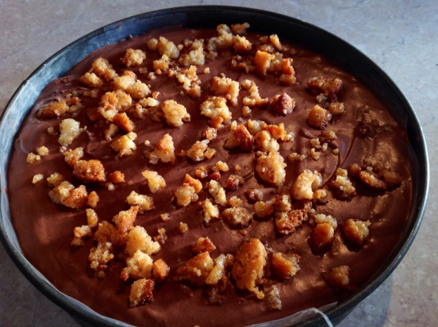 St Émilion au Chocolat prior to turning out