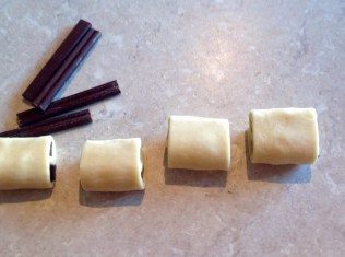 step 5: roll up fully with seam underneath