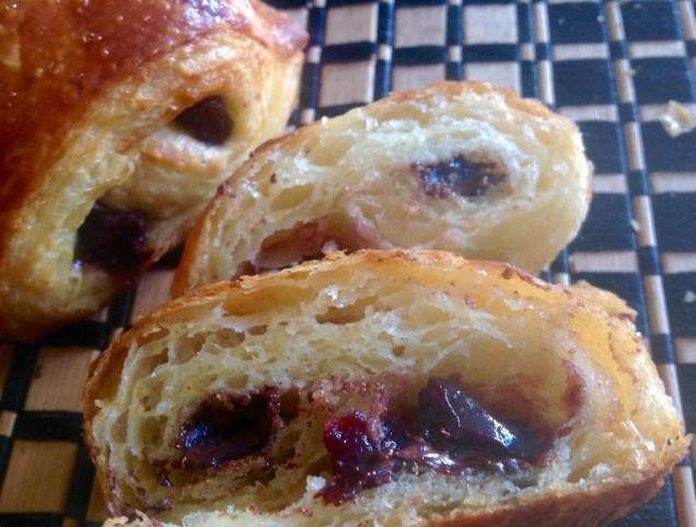 Cherry & kirsch pains au choc