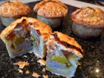 Stilton, piccalilli & pear pork pie