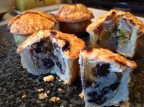 Mini black pudding pork pie with cider jelly