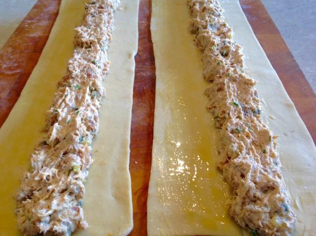 Smoked mackerel pastries