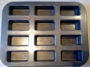 12-hole mini loaf tin: ideal for these fancies