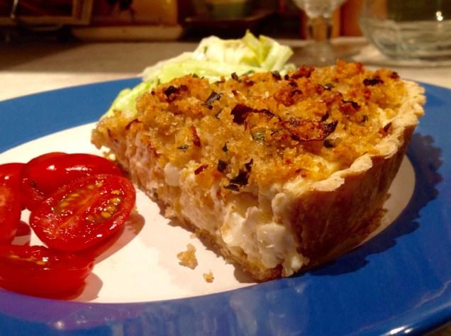 Roasted cauliflower cheese tart