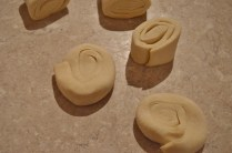 start to roll out the pastry thinly