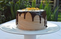 Chocolate & orange spiral cake