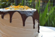 Chocolate & orange surprise cake