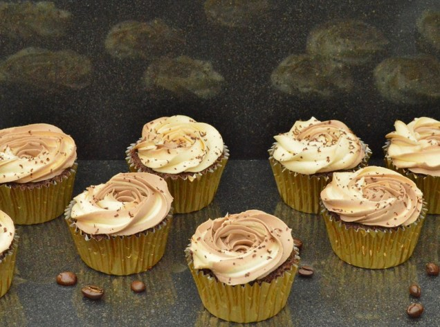 Intense roasted coffee cupcakes
