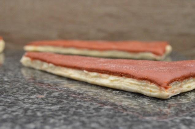 bi-coloured croissant dough