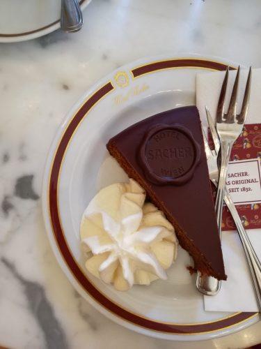 Original Sacher Torte im Café Sacher