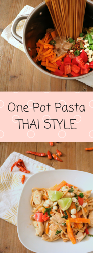 One Pot Pasta Thai Style