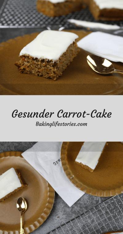 Gesunde Carrot-Cake Schnitten
