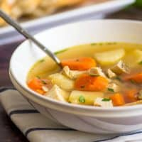 This homemade Chicken Peasant Soup is easy, fast, and delicious!