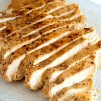How to cook perfect tender and moist chicken breasts for salads and sandwiches. From BakingMischief.com