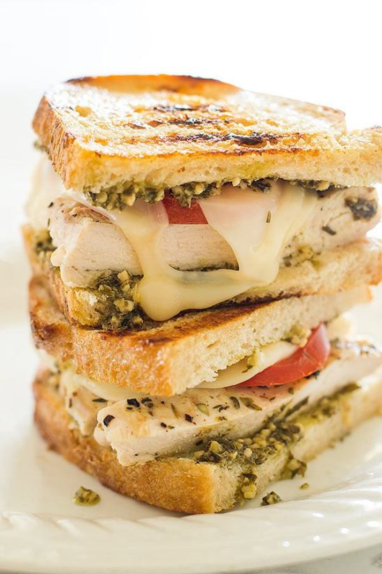 Image result for Chicken Pesto Sandwich