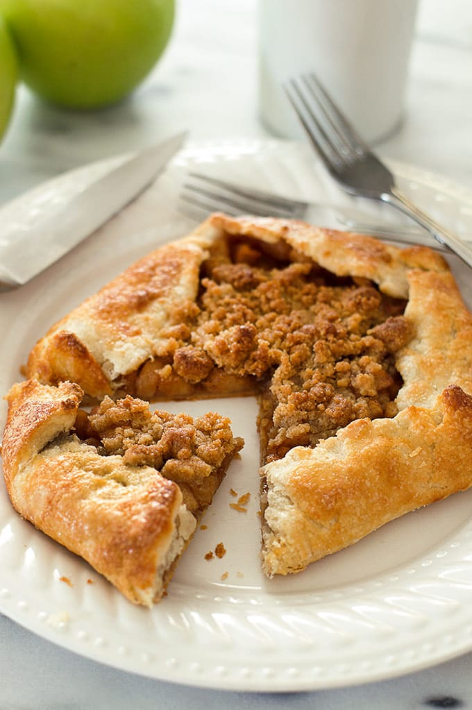 Dutch apple galette, sliced.