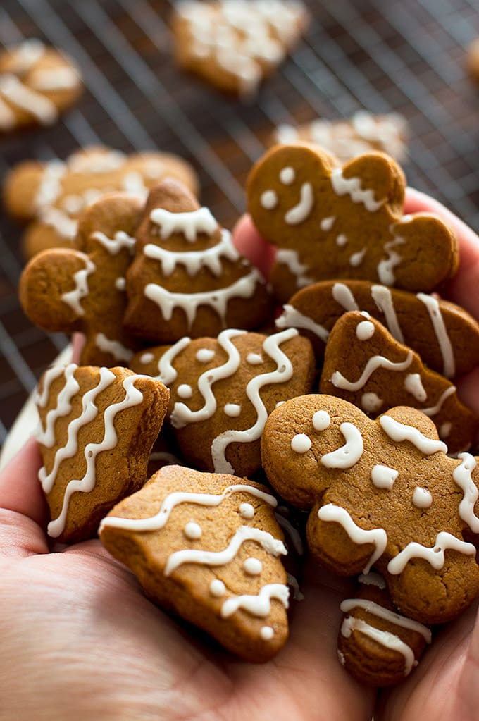 A handful of small-batch gingerbread cookies.