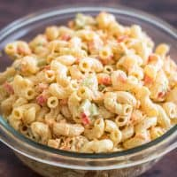 This Small Macaroni Salad is the perfect simple side for small get-togethers and dinners with friends!