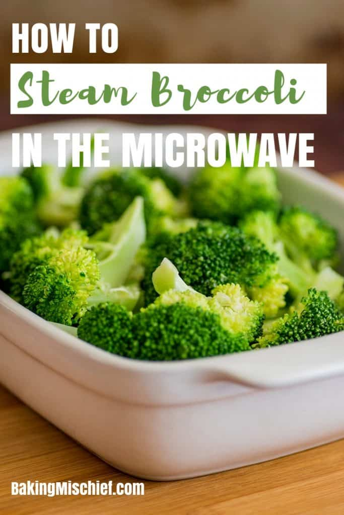 How to Steam Broccoli in the Microwave, a quick step by step tutorial. | #CookingTutorial | #Broccoli | #SideDish |