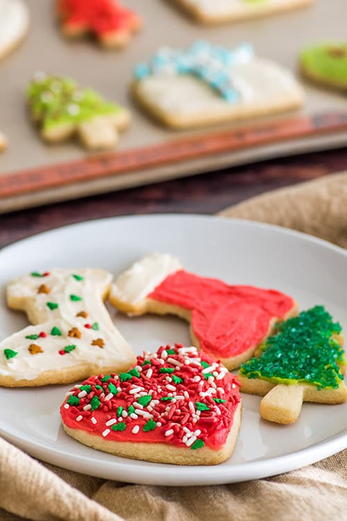 Twelve Days of Small-batch Christmas Cookies Day 1: Let's start out this cookie journey with a couple of classics, Small Batch of Cut-out Sugar Cookies and Miracle on 34th Street. | #Christmas | #ChristmasCookies | #ChristmasMovies | #DessertsForTwo |