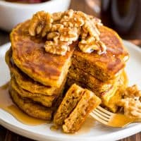 Pumpkin Pancakes for Two