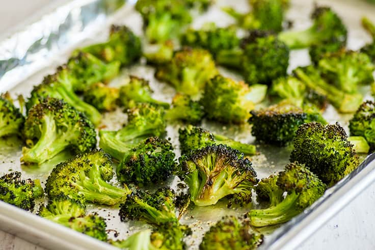 How to Cook Broccoli in the Oven Photo of oven-roasted broccoli.