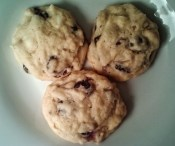 Blueberry Lemon cookies with Almonds and White Chocolate